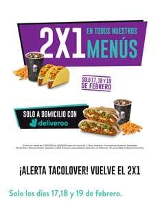 2x1 en Taco Bell desde Deliveroo