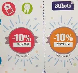 10% descuento etiquetas para ropa