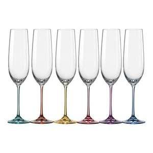 Juego de 6 copas de champagne Spectrum Bohemia