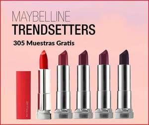 305 muestras GRATIS. Maybelline