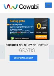 HOSTING GRATIS 1 AÑO + DOMINIO( .es & .com)