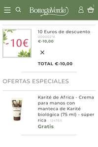 10€ de descuento + crema de manos gratis