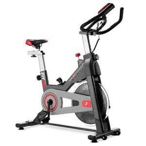 Bicicleta spinning FITFIU bici indoor volante inercia 11kg pulsometro y LCD