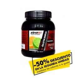 50% de descuento en la segunda unidad de glutamina sabor piña 300gr