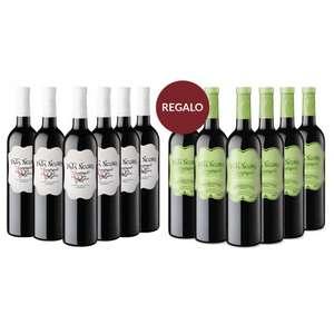 (6 bot) Vino Pata Negra Apasionado + (6 bot) Pata Negra Apas. sin Sulfitos + Kit San Isidro 2 litros vermut rojo + 2 pañuelos + 2 claveles