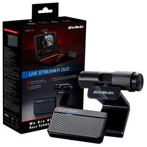 Capturadora AVerMedia Live Streamer Duo -WebCam - Pack Gaming