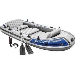 Barca Hinchable Excursion 5 con 2 Remos 366 x 168 x 43 cm