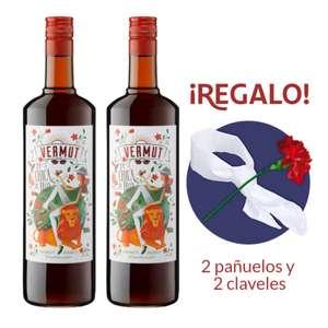 Kit San Isidro 2 litros de vermut rojo + 2 pañuelos + 2 claveles