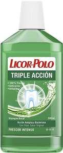 Licor del Polo - Enjuague Bucal Triple Acción - Antiplaca, Acción Antiplaca Bacteriana, Frescor Intenso - 3 uds de 500ml