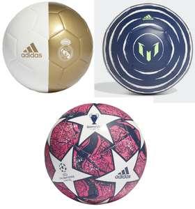 ECI: 3 balones Adidas al 50% (Uefa Champions League Final 19-20 Istambul, Real Madrid Capitano y Messi Clb)