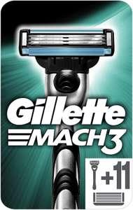 Gillette Mach3 - Maquinilla de Afeitar + 11 Cuchillas