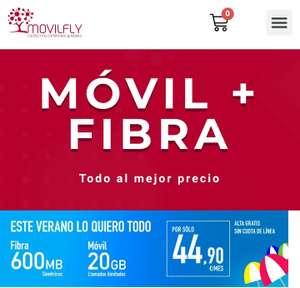 Internet 600MB + 20GB datos + llamadas ilimitadas (MovilFly)