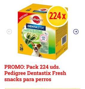 Pack 224 uds. Pedigree Dentastix Fresh snacks para perros a sólo 0'15€ unidad