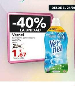Suavizante Vernel 57 lavados oferta Clarel +ofertas en descripción