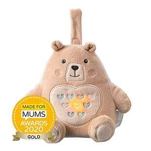 Muñeco duerme bebés Bennie el Oso - Tommee Tippee Grofriend Recargable USB, con Sensor de Llanto,