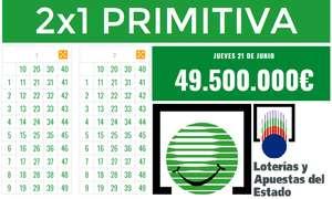 2 Primitivas con bote 49 millones + 1€ GRATIS