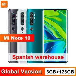 Xiaomi Mi Note 10 6 GB 128 GB 108MP Penta cámara desde ESPAÑA
