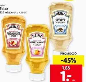 HEINZ Salsas, 3 variedades y + ofertas en tienda Lidl