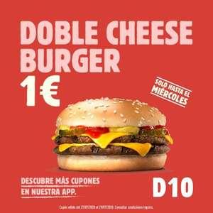 Doble Cheeseburger 1€ Burger King