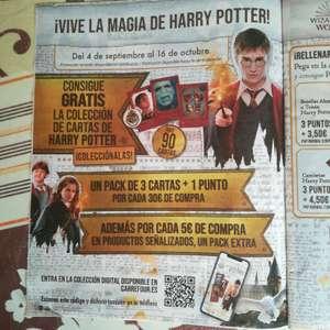 Cromos Harry Potter gratis en Carrefour