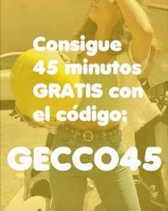 45 minutos gratis en Gecco