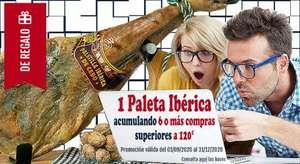 Paleta ibérica GRATIS acumulando 6 compras de 120€