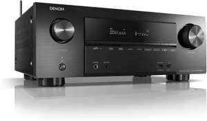 Denon 2600H, Receptor AV 7.2 Canales (WiFi, 4k, HDCP2.2, eARC, AirPlay 2, HEOS, Compatible con Alexa), Bluetooth USB Ethernet, Negro