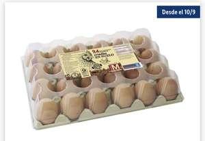24 huevos frescos en lidl