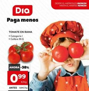 1kg de Tomates en rama por 0,99€ y más ofertas en DÍA y La Plaza