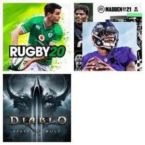 XBOX :: Juega Gratis Diablo III Reaper of Souls, Madden NFL 21 y Rugby 20