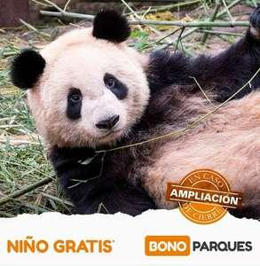 Bono Parques - Oferta Niño GRATIS