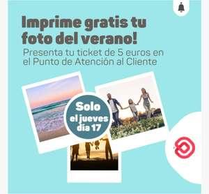 CC Baricentro: por cada tiquet de 5€ de hoy (17/9/2020), puedes imprimir una foto de instagram gratis