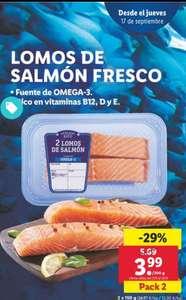 2 Lomos de salmón fresco (tienda)