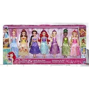 Princesas Disney - Pack 7 muñecas con vestidos de fiesta (28 cm aprox.cada una) [+cupón 40%]