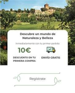 En la web Bottega Verde 10 euros de descuento + envio gratís con el primer pedido