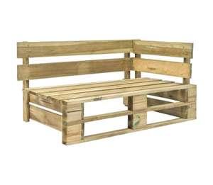 Banco de esquina de palés para jardín madera