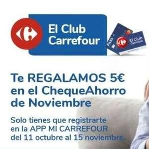 5€ de regalo en Carrefour tan solo por registrarte en la app