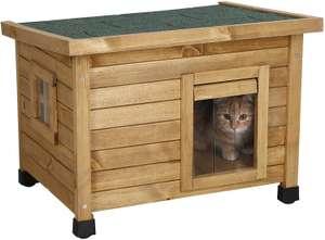 Caseta estilo rustico para gatetes (animales de compañía). Gatos y perros pequeños.