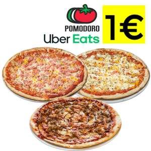 Pizzas a 1€ en Pomodoro por Uber Eats