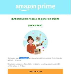 5€ GRATIS Cuentas Seleccionadas Amazon Prime Reading