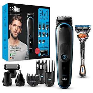 Braun MGK5280 9 en 1 - Máquina recortadora de barba, set de depilación corporal y cortapelos para hombre