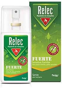 Relec Fuerte   Spray Antimosquitos   Repelente de mosquitos   Eficaz contral el mosquito tigre   Sin olor, sin perfume y sin alcohol   75 ml