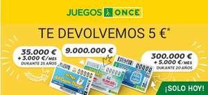5€ devolución en saldo con la ONCE