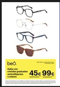 Gafas con cristales 45€