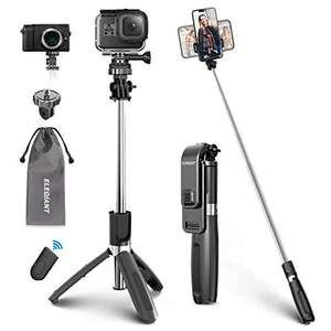 ELEGIANT Palo Selfie Trípode Bluetooth, 4 en 1 Selfie Stick Móvil con Control Remoto