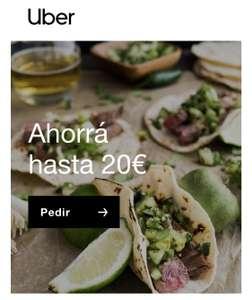 Obtén 20€ de descuento en tu primer pedido con Uber Eats