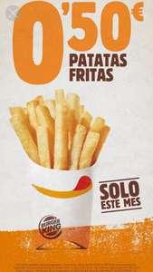 Ración pequeña de patatas a 0'50€ en Burger King.