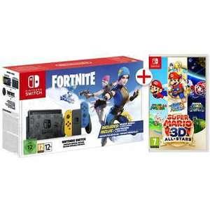 Nintendo Switch Edición Limitada Fortnite + Super Mario 3D All Stars