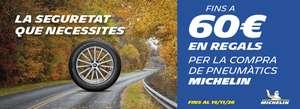 60 € en regalos por compra de neumáticos Michelin en Rodi (Cataluña)