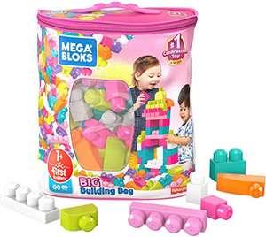 Mega Bloks Juego de construcciones 80 piezas con bolsa ecológica rosa - Mínimo